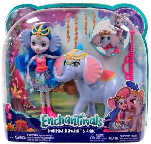 Mattel Enchantimals Ekaterina Elephant & Antic Toy Set - 4+ Years FKY72